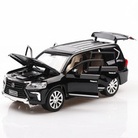 1:24 alloy pull back car models,high simulation lx570 SUV model car,6open the door,musical&flashing,toy vehicles,free shipping