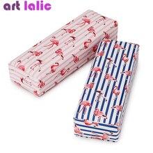Дизайн ногтей подушки для рук держатель лака для ногтей мягкий из искусственной кожи губка подлокотник полоса Фламинго дизайн салон маникюр