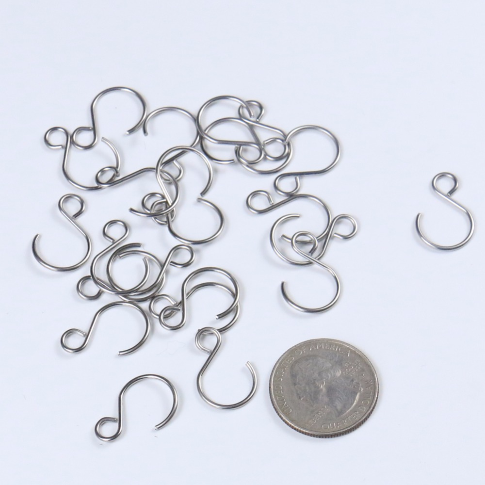 100PCS Crystal Hook Ring Connector Silver Bead & Chandelier Crystal Connectors Accessories Hanging Pandent Ring