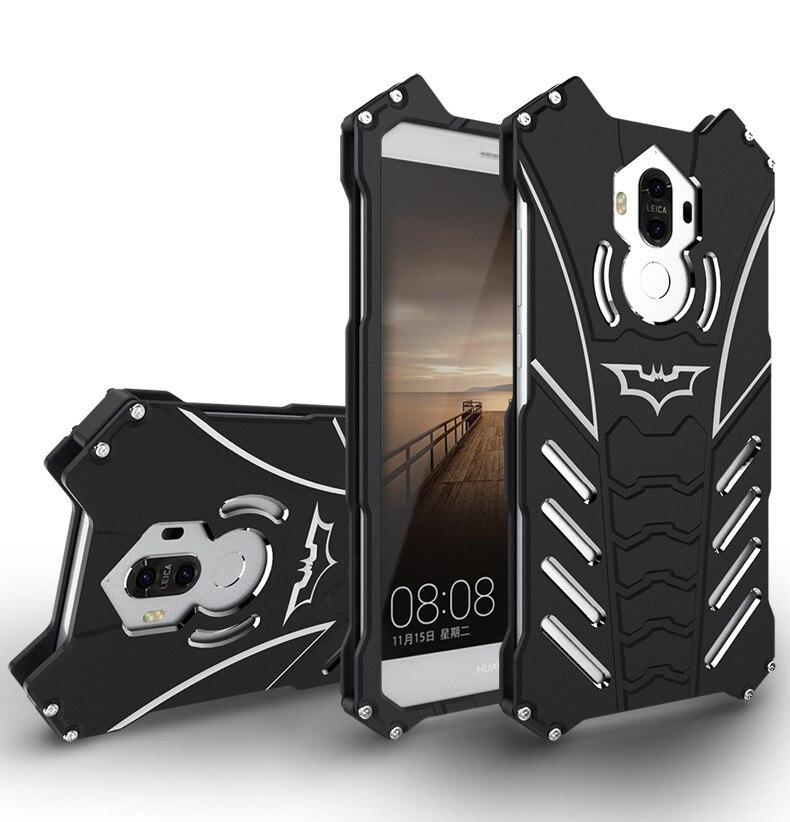imágenes para Huawei mate 9 case r-just espacio de lujo de aluminio de metal cubierta del teléfono casos para huawei mate 9 5.9 ''mobile coque