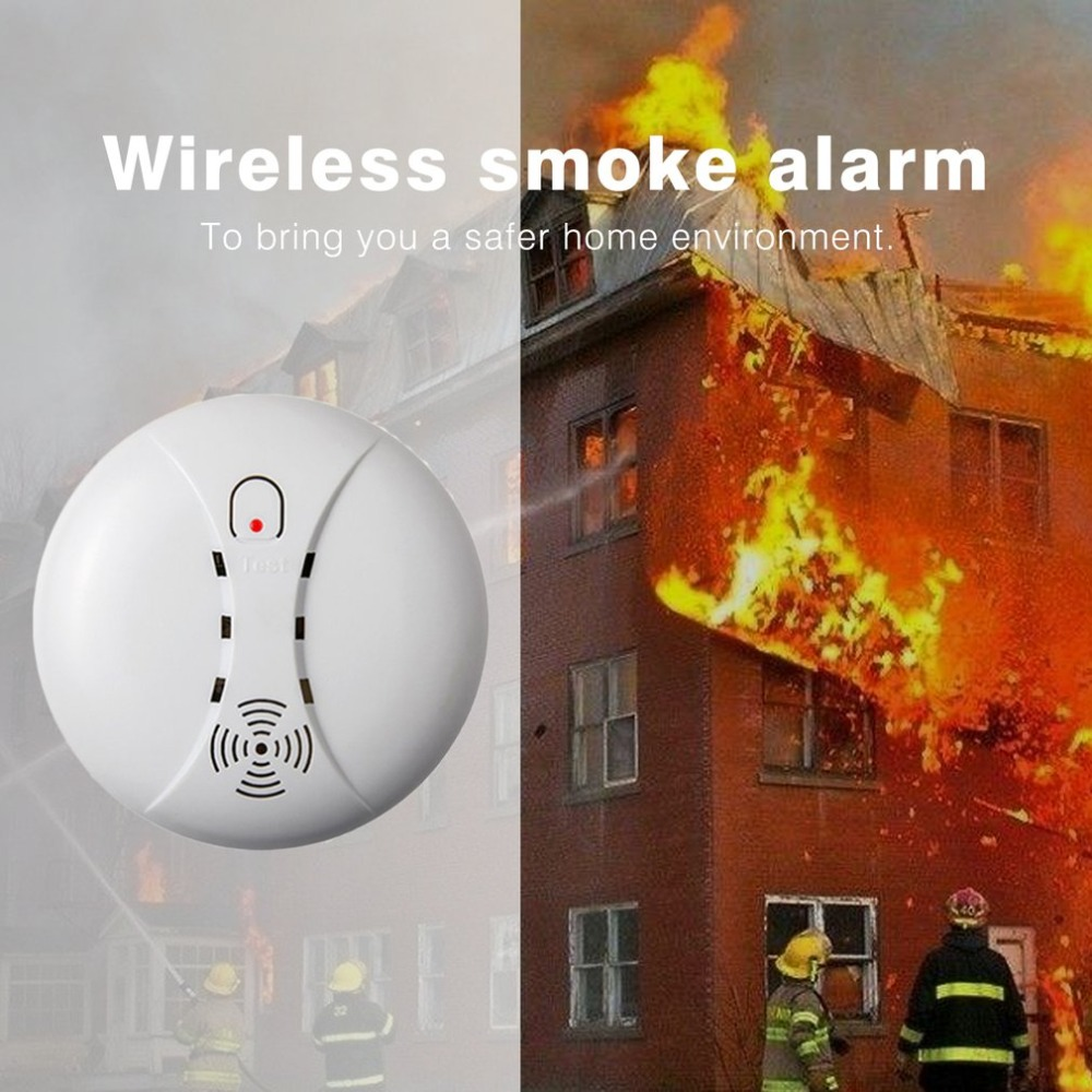 Wireless Fire Protection Smoke Detector Monitor Portable Alarm Sensor Office Guard For Home Security Alarm System portable alarm detector wire fire smoke detector for alarm system smoke sensor