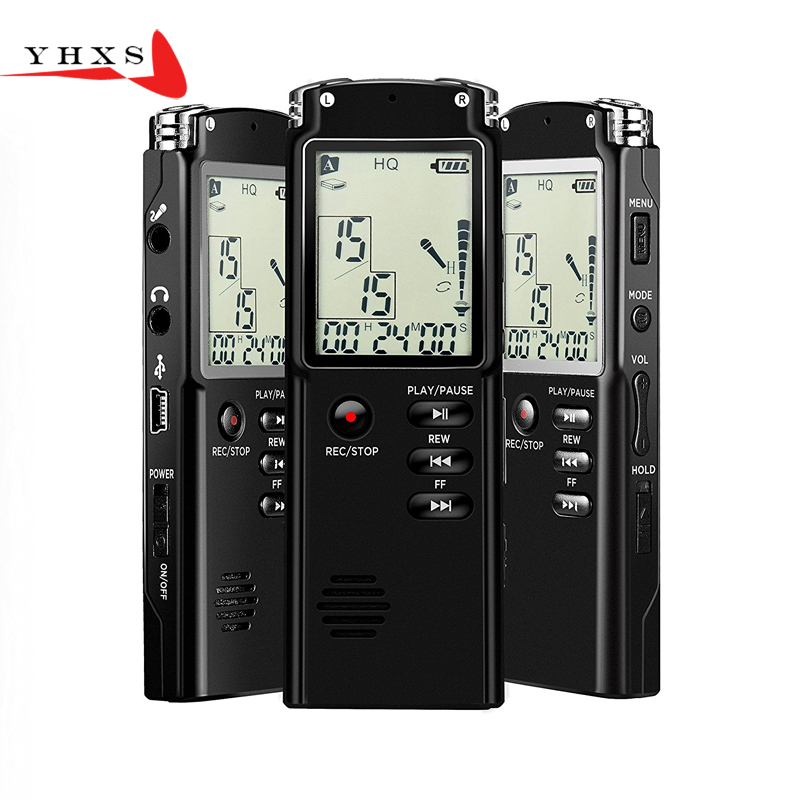 Portable 32GB Original Voice Recorder USB Professional 96 Hours LCD Dictaphone Digital Audio Voice Recorder with WAV MP3 Player free shipping new 8gb digital voice audio digital recorder recorder dictaphone with mp3 player function