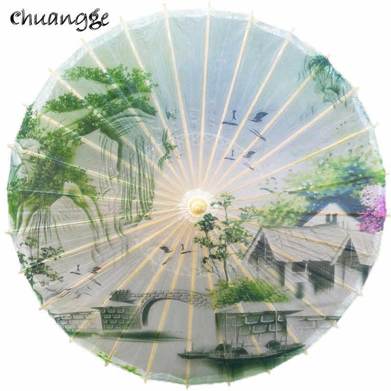 الكلاسيكية ورقة يتأهل مظلة المطر والشمس مظلة اليدوية القديمة الصين نمط زينت الياباني النساء الرقص الدعائم