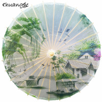Classical Oiled Paper Umbrella Rain And Sun Handmade Ancient China Style Decorated Japanese Umbrella Women Dance Props