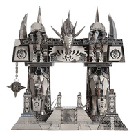 Picture Kingdom 3D Metal Nano Puzzle The Dark Portal Building Model Kits PJ 158 DIY 3D Laser Cut Assemble Jigsaw Toys