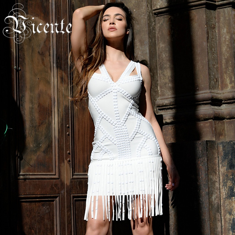 Vicente All Free Shipping 2019 New HOT Fashion Runway Work Beads Tassels HL Celebrity Party Style