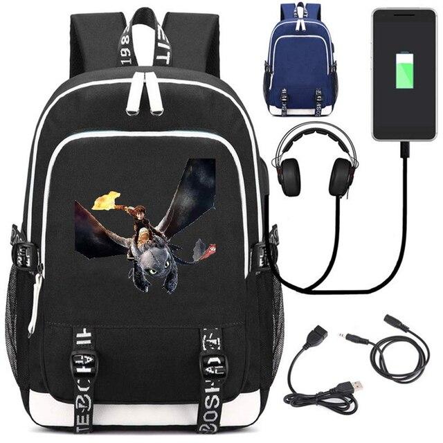 Рюкзак Как приручить дракона 3 USB зарядка в подарок