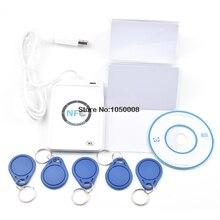 USB ACR122U A9 قارئ اتصال المدى القريب الكاتب الناسخ البطاقة الذكية لتحديد التردد اللاسلكي 5 قطعة بطاقات UID للتغيير 5 قطعة UID keyfob 1 SDK CD