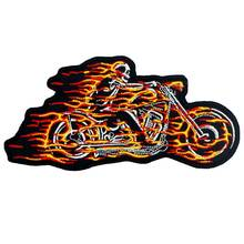 FIRE SKULL motorcycle iron on backing embroidered rider biker patches for back vest hat clothing 3 PCS /LOT