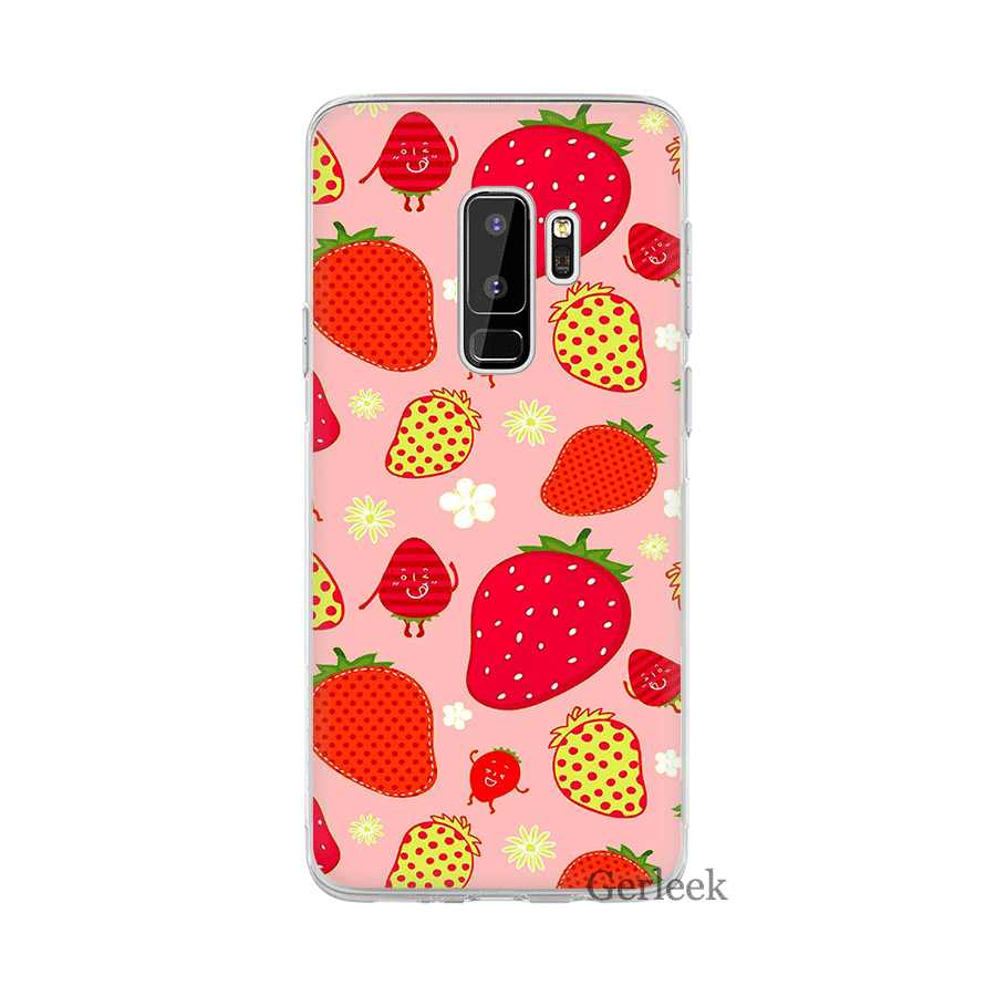 Gerleek клубничное молоко чехол для Samsung Galaxy A3 A5 A6 A7 A8 A9 A10 A30 A40 A50 A70 Защитная крышка