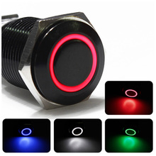 12V LED Aluminum Metal Switch Power Latching Push Button switch 18mm