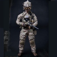Mnotht 1/6 M010 US Seal Six Double Gun Model Weapon Toy Male Clothes Accessory for 12in Soldier Body Collection Action Figure b