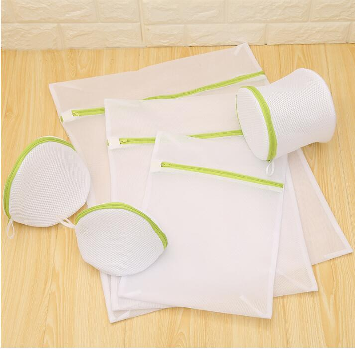 6pcs/sets Laundry Bag Drawstring Bra Underwear Portable High Quality Useful Mesh Net  Zipper Bra Wash Pocket