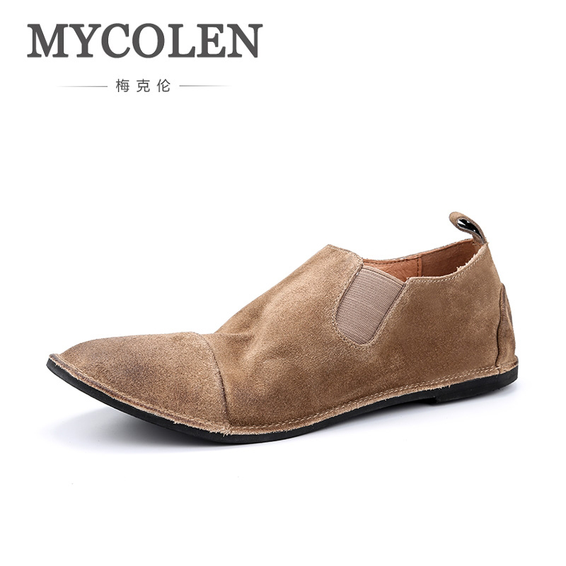 MYCOLEN Genuine Leather Men Shoes Fashion Brand Lace-Up Men Casual Shoes New 2018 Breathable Male Footwear Spring Autumn vesonal 2017 brand casual male shoes adult men crocodile grain genuine leather spring autumn fashion luxury quality footwear man