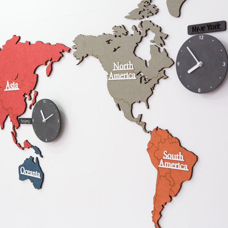 Creative colorful world map clock bedroom mute 14 inch wall clock creative colorful world map clock bedroom mute 14 inch wall clock living room modern hanging clocks decorate home in wall clocks from home garden on gumiabroncs Image collections