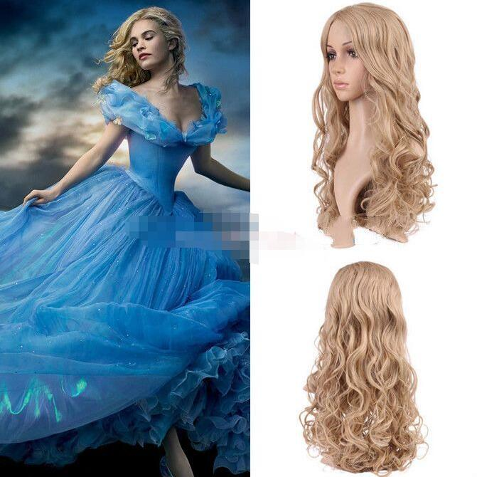 Wholesale Heat Resistant Ly Free Shipping New Movie Hair Princess Cinderella Wig Long Curly Ash Blonde Anime Cosplay Wig Wig Hairnet Cosplay Vampirecosplay Maid Aliexpress