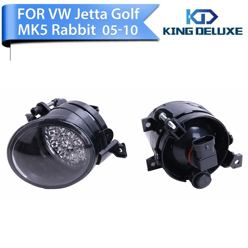 For VW Jetta Golf 5 GTI MK5 Rabbit Skoda Seat 2005 - 2010 Front Grille LED Foglamps Fog Lights Left & Right Car Lighting #P263 женское платье wswg vestidos 4xl 20554