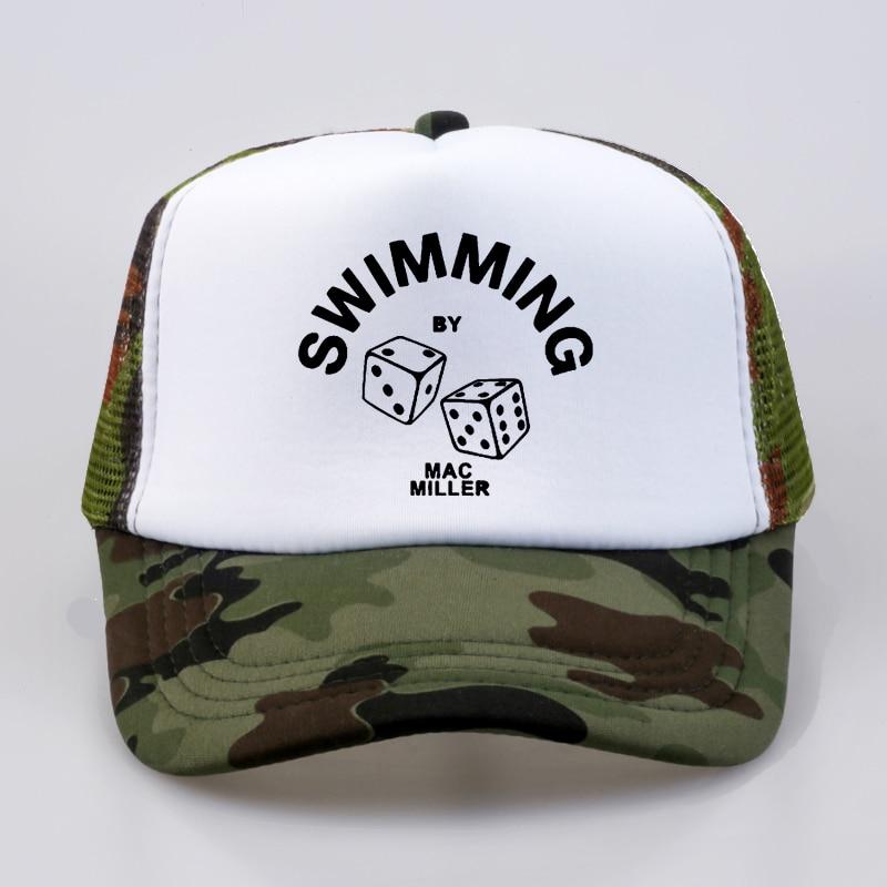 Mac Miller Dad Hat Swimming Print Hat 1