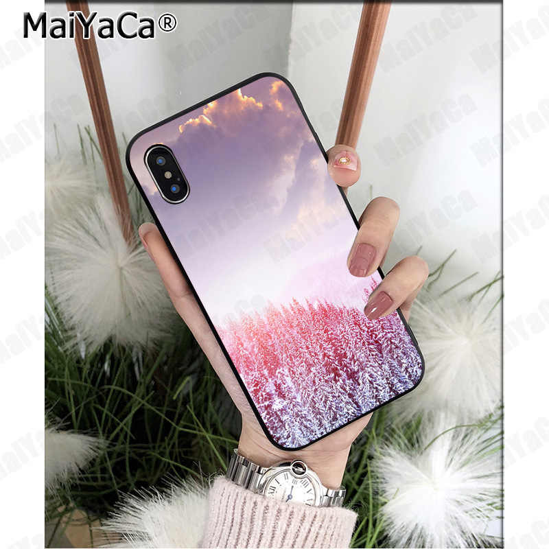 MaiYaCa 森雲パターンカラフルなかわいい電話アクセサリーケース apple の iphone 5 8 7 6 6S プラス X XS 最大 5 5S 、 SE XR 携帯電話