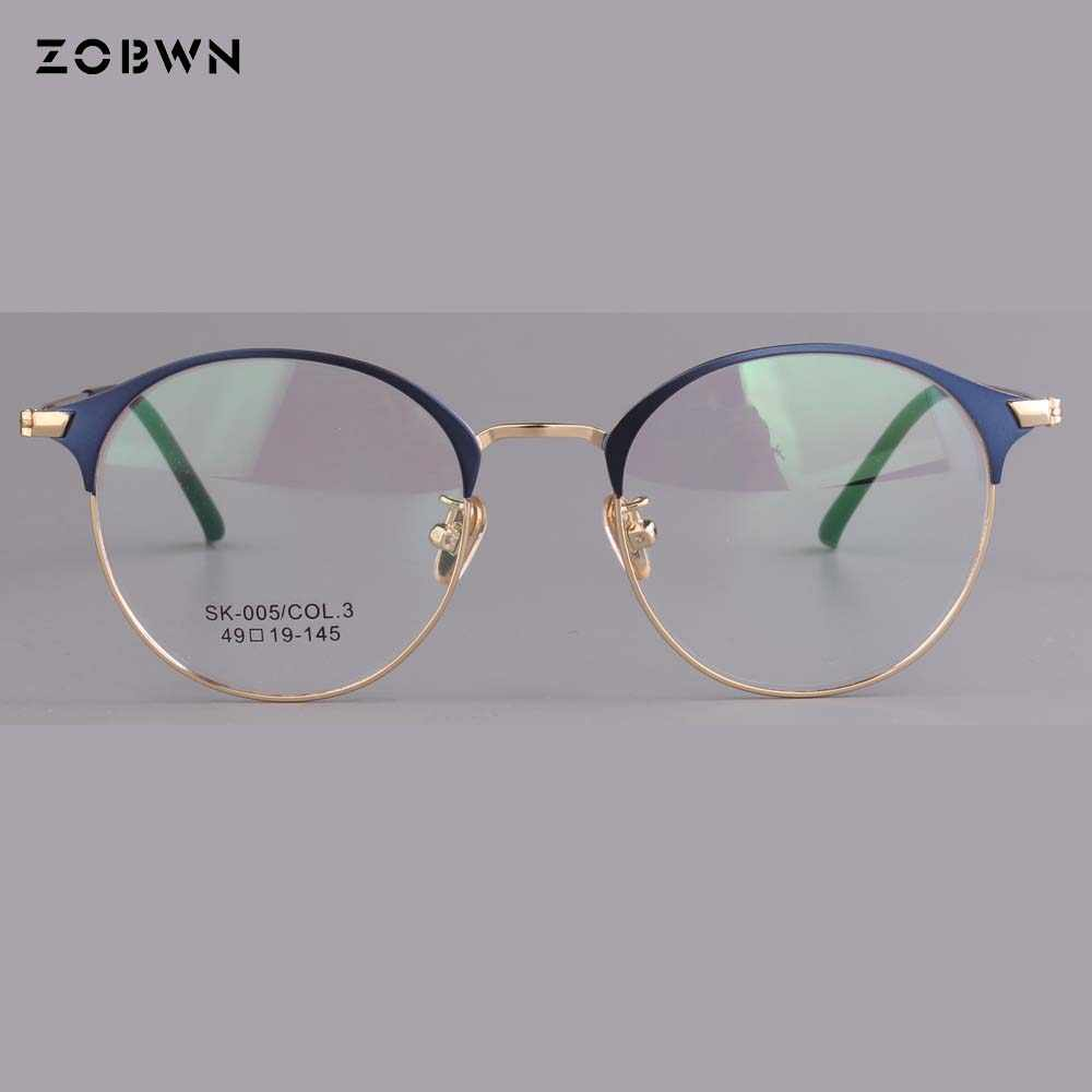 38467644f68 mix wholesale up blue down silver 2018 hot selling Fashion Men Women  Rimless Eyeglasses Frames Brand