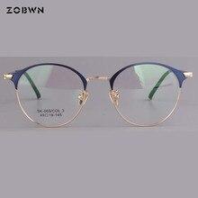 d6dbbaf8f35e mix wholesale up blue down silver 2018 hot selling Fashion Men Women  Rimless Eyeglasses Frames Brand