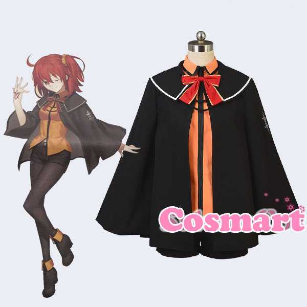 [Customize]Anime Fate Grand Order Gudako Chaldea New School Uniform Role Play Halloween Cosplay Costume for women New free ship free ship gou matsuoka long wine red women style anime cosplay wig one ponytail 370f