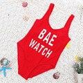 Las mujeres traje de Baño traje de Baño Backless BAE RELOJ Carta Impreso traje de Baño de la Playa Del Verano de Europa Y América del Flaco Delgado Body 2017