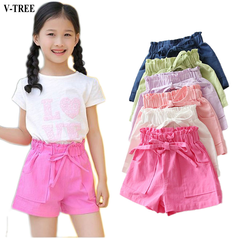 Summer Girls Shorts Candy Color Boardshorts Kids Cotton Children Pants Beach Shorts For Baby 2-8T Shorts