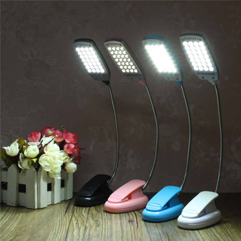 flexible 28 led portable adjustable mini study reading light usb battery usb clip on fixture. Black Bedroom Furniture Sets. Home Design Ideas