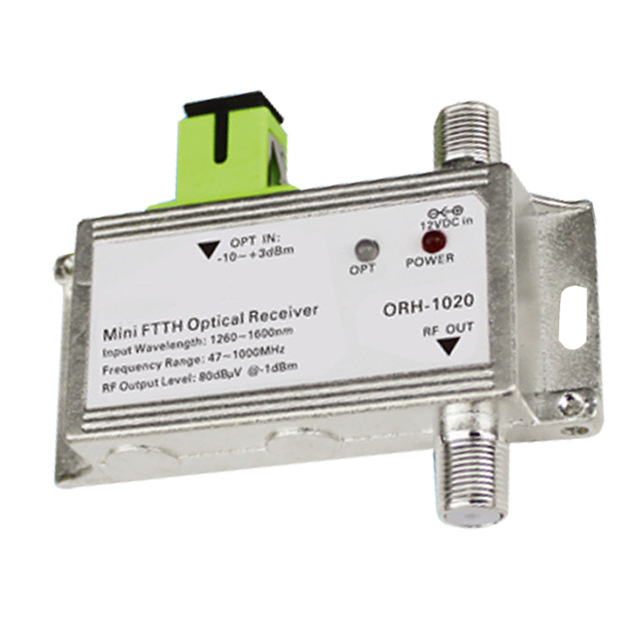 CATV FTTH noeud optique/récepteur 1310nm et récepteur actif AGC modèle ORH-1020 47-1000 MHz, AGC mais pas WDM