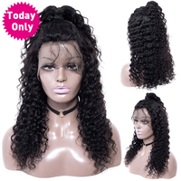 TODAY ONLY Brazilian Deep Wave Lace Frontal Human Hair Wigs For Black Women Lace Frontal Wig Pre Plucked With Baby Hair Remy