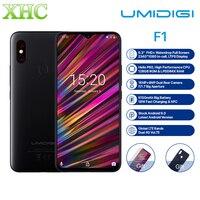 UMIDIGI F1 6,3 ''FHD + безрамочный экран Android 9,0 мобильный телефон 4 Гб 128 Helio P60 Восьмиядерный отпечаток пальца разблокировать NFC FCC, аддитивного цветов