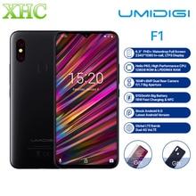 UMIDIGI F1 6,3 »FHD + Android 9,0 мобильный телефон 4 GB 128 GB Helio P60 Восьмиядерный отпечаток пальца разблокировать NFC FCC Dual SIM 16MP смартфон