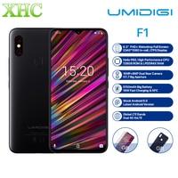 UMIDIGI F1 6.3'' FHD+ Android 9.0 Mobile Phone 4GB 128GB Helio P60 Octa Core Fingerprint Unlock NFC FCC Dual SIM 16MP Smartphone