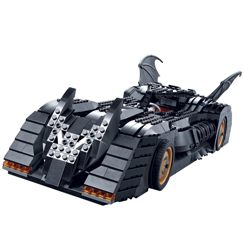 New bricks 7116 1045Pcs Superhero Batman The Ultimate Batmobile Model Building Kit Mini Blocks Toy Compatible with LEPIN