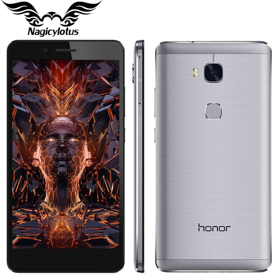 Original HuaWei Honor 5X 4G FDD LTE Mobile Phone MSM8939 Android 5.5″ FHD 1080P 2/3GB RAM 16GB ROM 13.0MP Fingerprint Smartphone