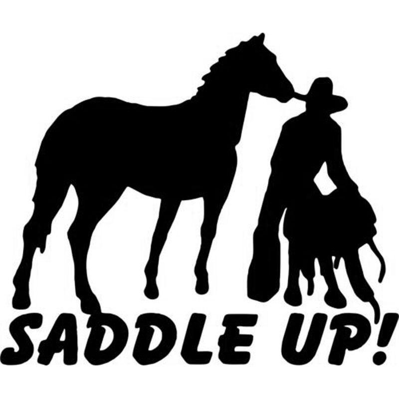16cm 13 5cm Cowboy Horse Rodeo Western Saddle Farm Vinyl