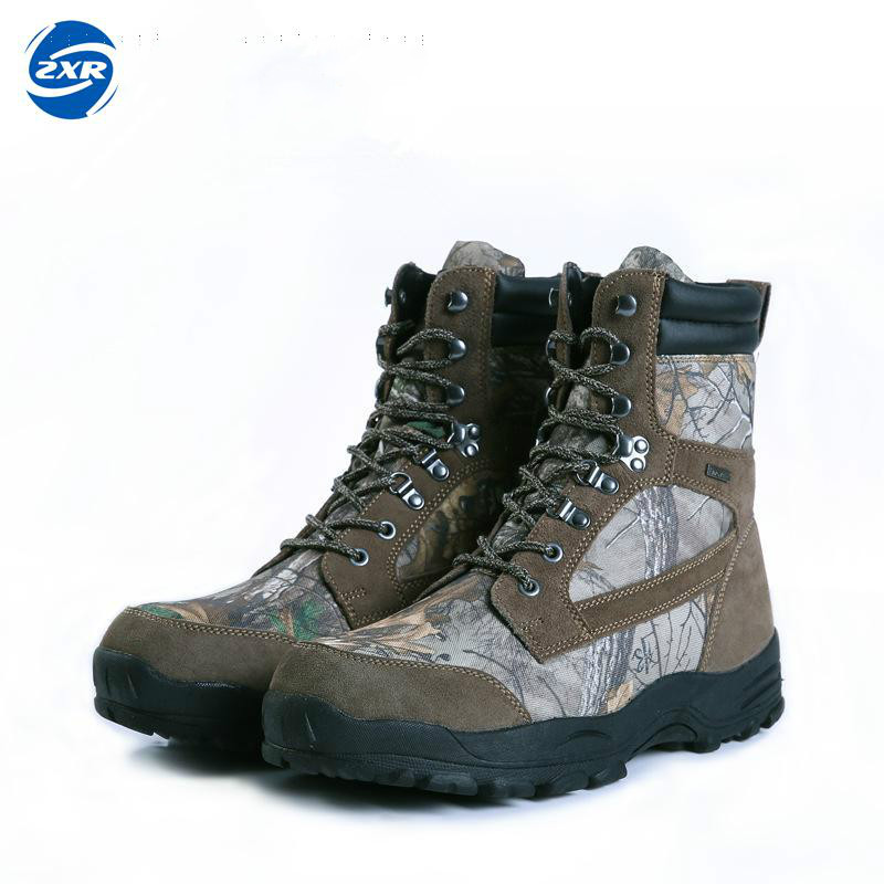 цена на Mens Camo Hunting Boot Realtree Ap Camouflage Winter Snow Boots Waterproof Outdoor Tactical Camo Boot Hunting Fishing Shoe