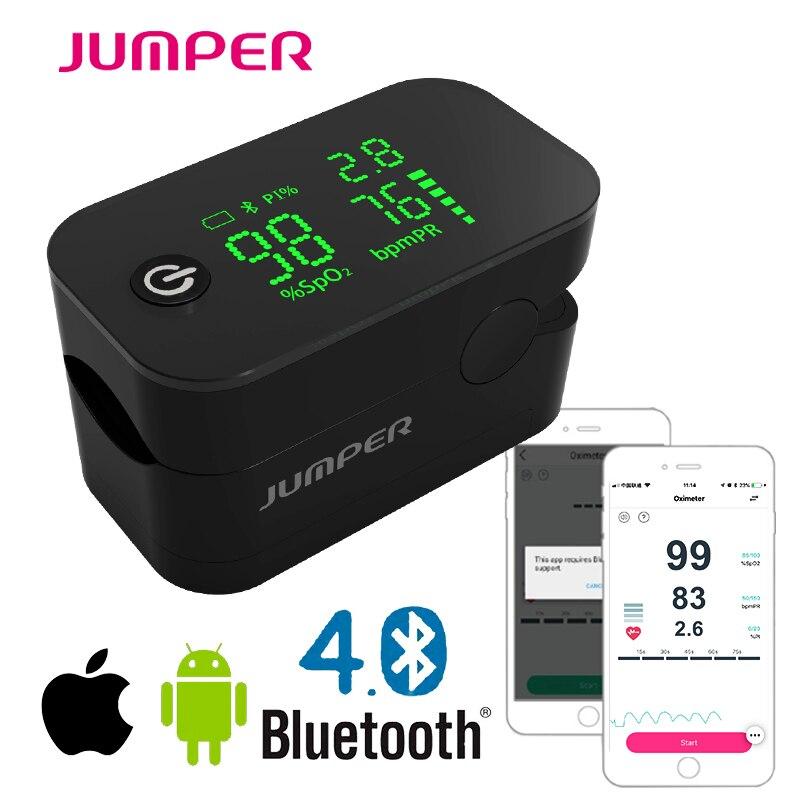 Oxymètre de pouls sans fil Bluetooth doigt écran LED hd Pulsioximetro android téléphone APP