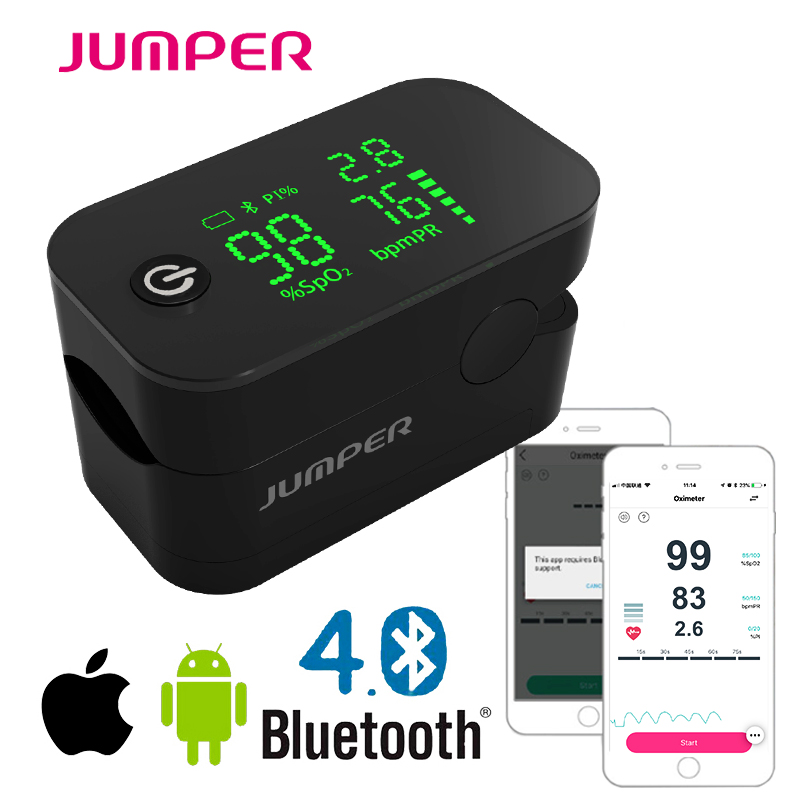 Wireless Bluetooth Finger Pulse Oximeter HD LED Display Fingertip Pulsioximetro android iSO Phone APP Oximetro de pulso de dedoWireless Bluetooth Finger Pulse Oximeter HD LED Display Fingertip Pulsioximetro android iSO Phone APP Oximetro de pulso de dedo
