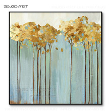 Professional Artist Hand-painted Beauty Fashion Art Abstract Oil Painting Gold Foil for Wall Decor