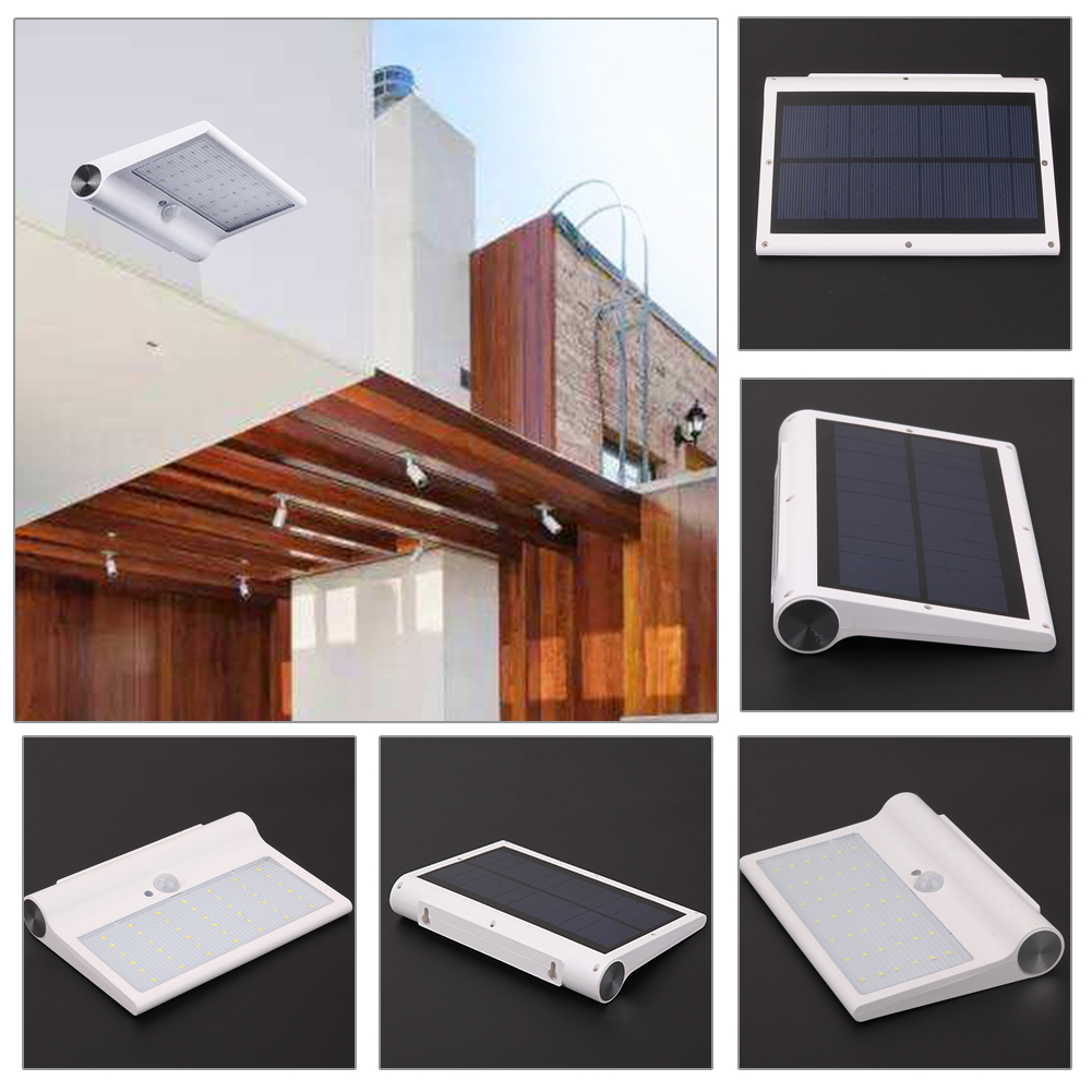 New 650LM 42 LED Waterproof PIR Motion Sensor Solar Power Wall Light Security Garden Outdoor Street Yard Path Emergency Light