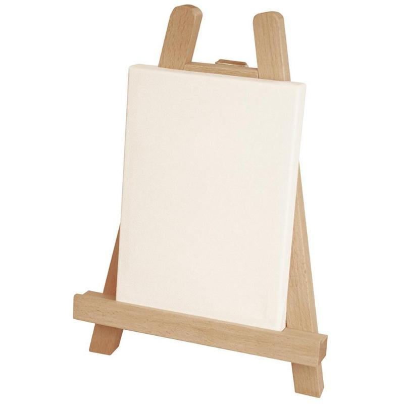цены Mini Wooden Folding Painting Easel Frame Adjustable Tripod Display Shelf Teaching Equipment for Children Painting
