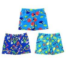 1 предмет, пляжная одежда для купания с мультипликационным принтом, шорты, детские плавки, купальный костюм, летняя одежда для купания, с принтом, для маленьких мальчиков 3-8 лет