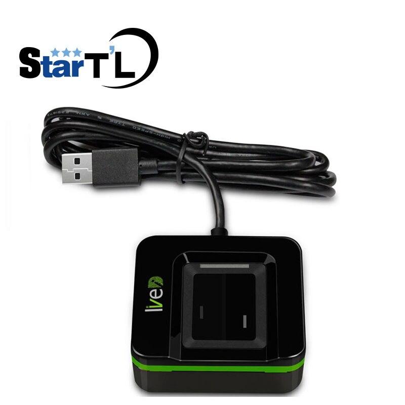 Lecteur d'empreinte digitale ZK en direct 20R Scanner d'empreinte digitale USB ZK identification en direct capteur d'empreinte digitale USB Anti faux