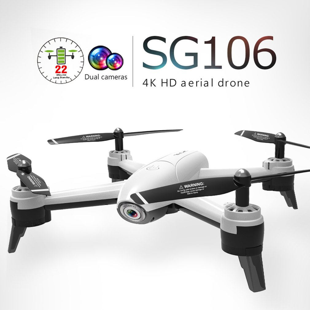 SG106 RC Drone 4K 1080P 720P Dual Camera FPV WiFi Optical Flow Real Time Aerial Video RC Quadcopter Aircraft Dron HD Camera(China)