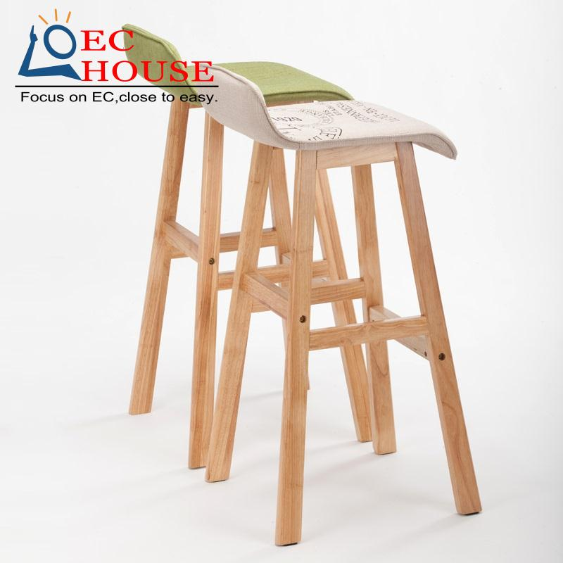 wood chairs fashion front desk bar stool High chair FREE SHIPPING(China (Mainland)  sc 1 st  AliExpress.com & Popular Desk Stool-Buy Cheap Desk Stool lots from China Desk Stool ... islam-shia.org