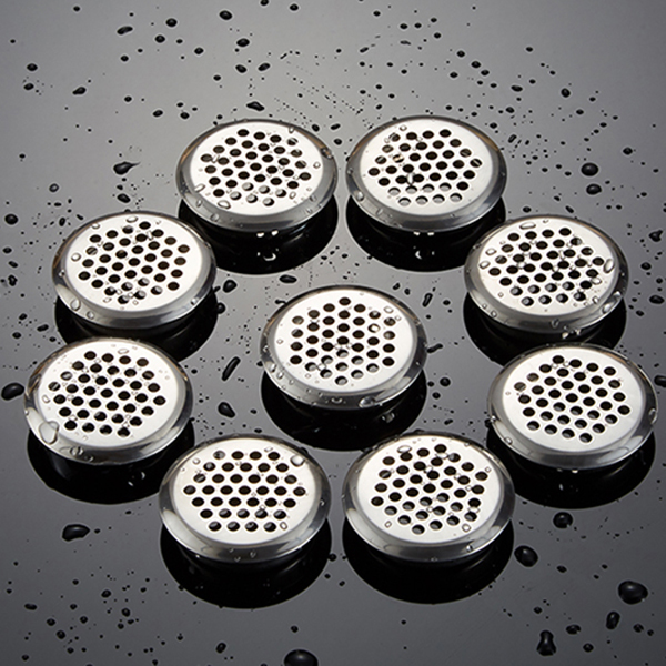 20 X Heating Cooling Vents Aeration Grid Ventilation Circle Lid 65mm Stainless Steel Silver For Furniture With Buckle Adjustable