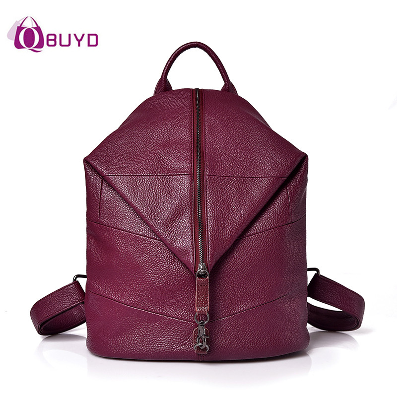 2018 Personality Backpack Women Soft Leather Backpack Fashion Women Backpacks For Girls Shoulder Bags Schoolbag Rucksack Mochila
