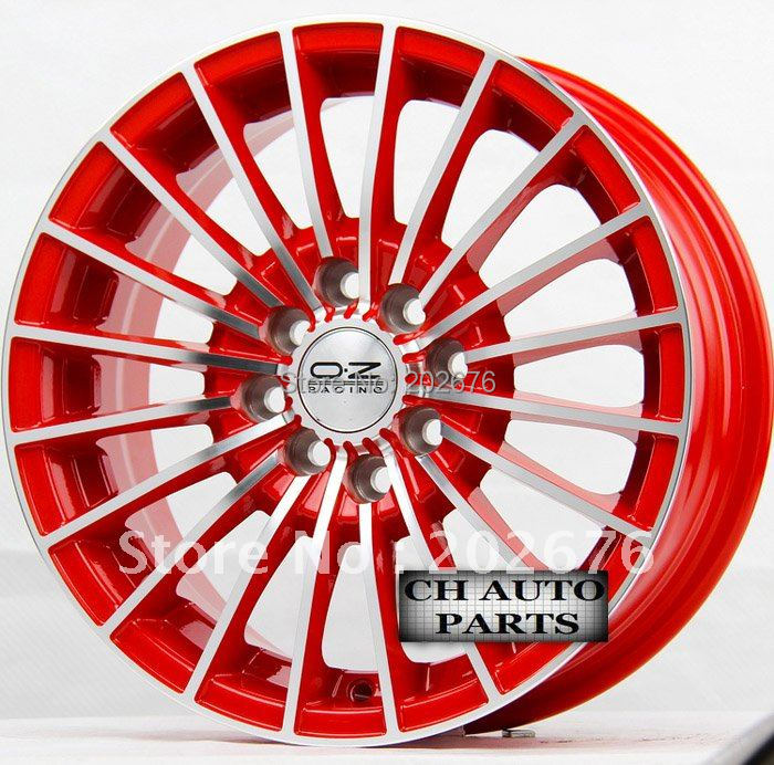 14 15 16 inch oz red light surface alloy tuning wheel rim compatible cars jetta swift city. Black Bedroom Furniture Sets. Home Design Ideas